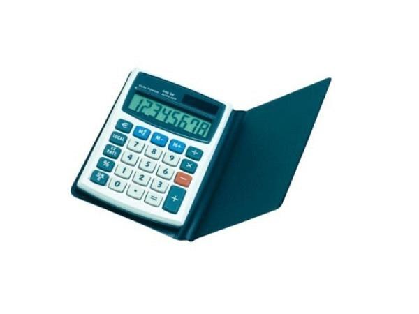 Taschenrechner Büroline silber 8stellig extragr. LCD-Anzeige