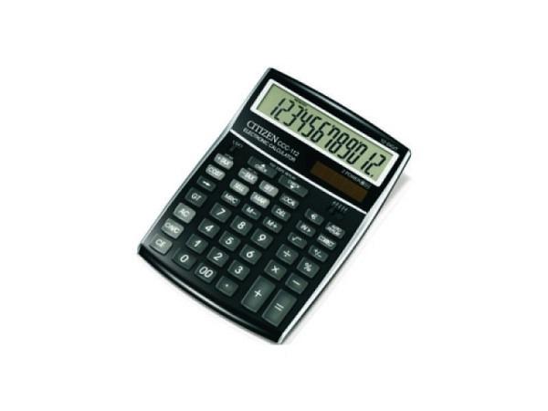 Taschenrechner Citizen CDC-80BK schwarz Solar und Batterie