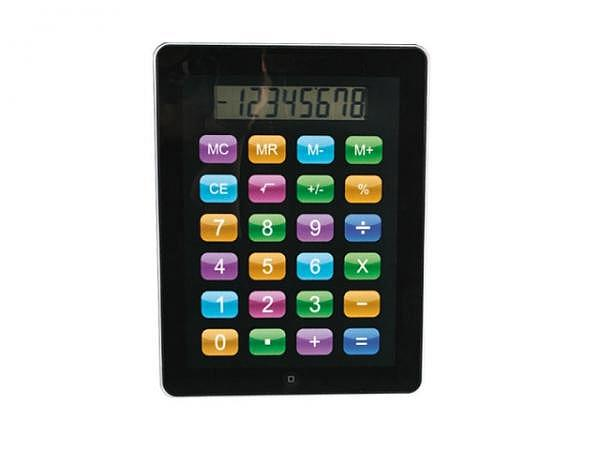 Taschenrechner I Pad, ca. 19x24cm, schwarzes Gehäuse