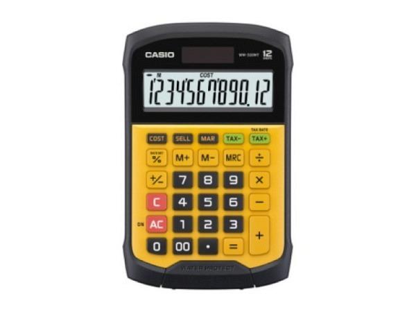 Taschenrechner Casio WM-320MT gelb 10,9x16,9cm