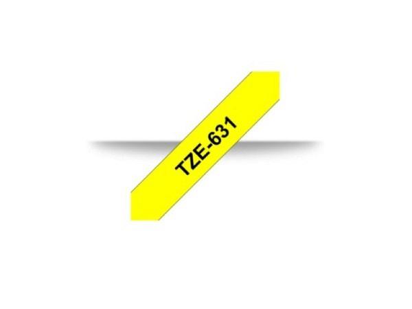 Beschriftungsband Brother P-Touch TZe 12mm schwarz auf gelb