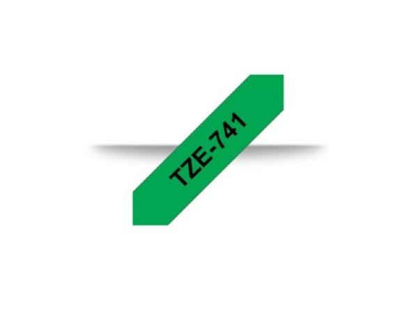 Beschriftungsband Brother P-Touch TZe 18mm schwarz auf grün