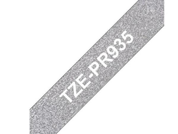 Beschriftungsband Brother P-Touch TZe 12mm breit, weiss auf Premium ..