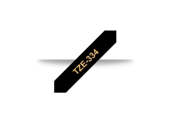 Beschriftungsband Brother P-Touch TZe 12mm gold auf schw 334