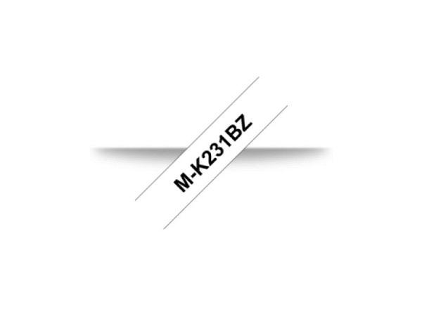 Beschriftungsband Brother P-Touch M 12mm schwarz auf weiss M