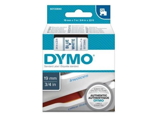 Dymo Band 19mm blau auf weiss 45804
