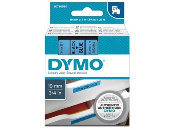 Dymo Band 19mm schwarz auf blau 45806