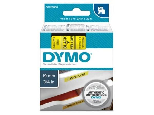 Dymo Band 19mm schwarz auf gelb 45808