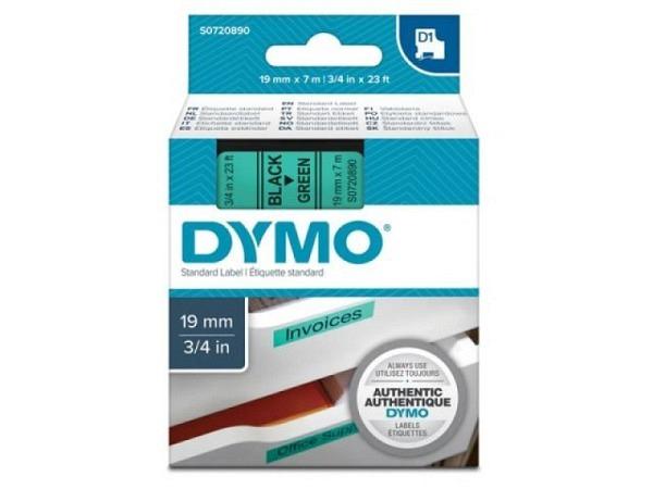 Dymo Band 19mm schwarz auf grün 45828