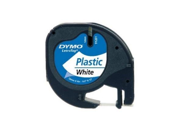 Beschriftungsband Dymo Letra Tag 12mm schwarz auf perlweiss
