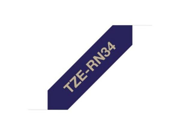Beschriftungsband Brother P-Touch TZe Textilband 12mm breit, gold au..