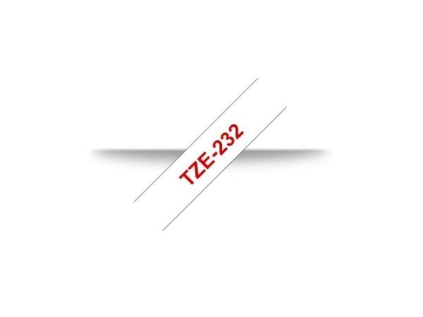 Beschriftungsband Brother P-Touch TZe 12mm rot auf weiss