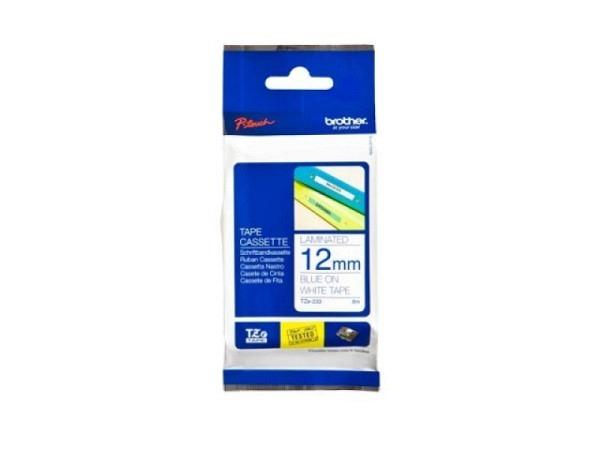 Beschriftungsband Brother P-Touch TZe 12mm blau auf weiss