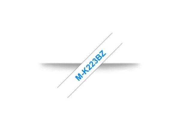 Beschriftungsband Brother P-Touch M 9mm blau auf weiss M