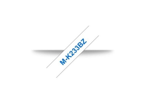 Beschriftungsband Brother P-Touch M 12mm blau auf weiss M