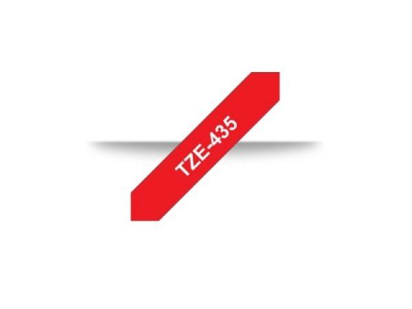 Beschriftungsband Brother P-Touch TZe 12mm weiss auf rot