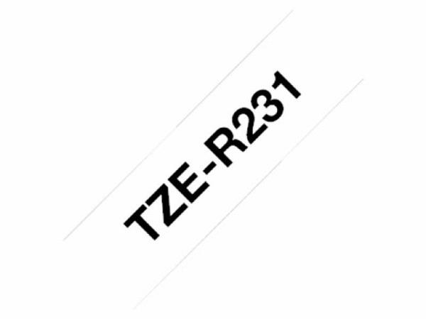 Beschriftungsband Brother P-Touch TZe Ribbon 12mm, schwarz auf weiss
