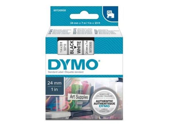 Beschriftungsband Dymo 24mm schwarz auf weiss