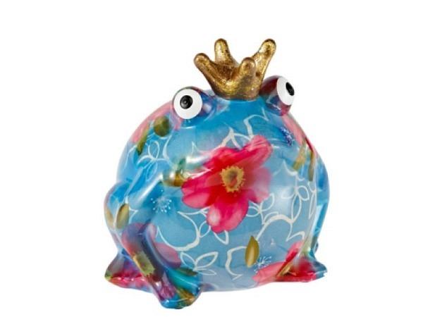 Geldkassette Froschkönig aus Keramik farbig assortiert