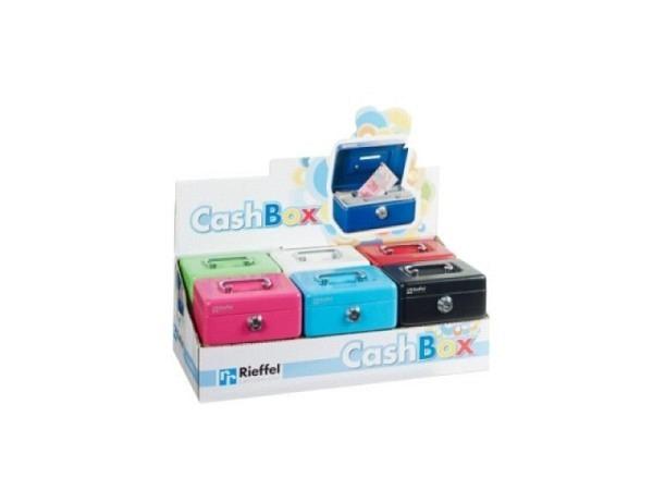 Geldkassette Cashbox Mini Metallic farbig ass.