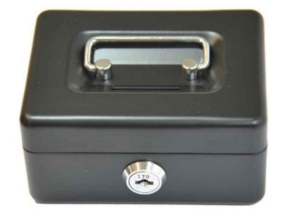 Geldkassette Alco 12x10x6cm schwarz, mit Traggriff