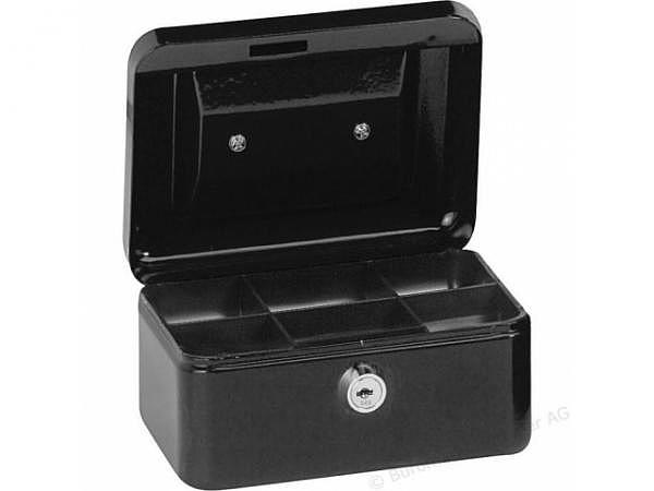 Geldkassette Alco 15x12x7,5cm schwarz, mit Schloss