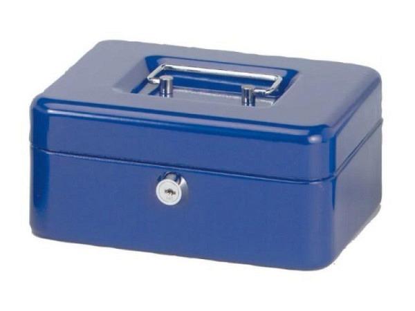 Geldkassette Büroline 16,5x12,5 m. Münzfach blau
