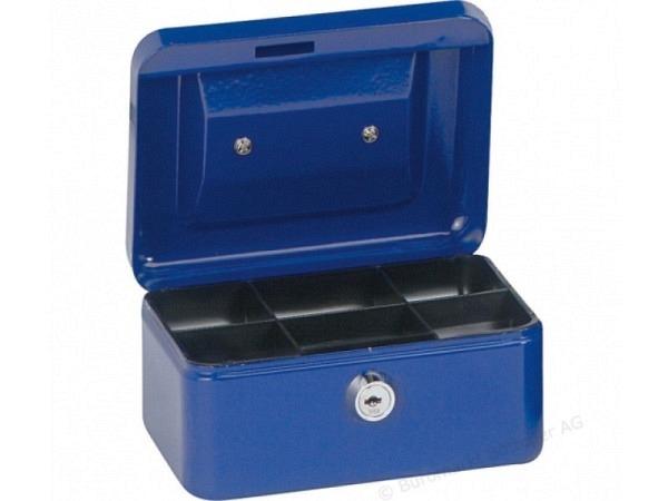 Geldkassette Alco 15x12x7,5cm dunkelblau, mit Schloss