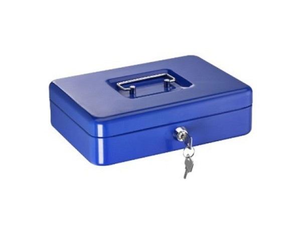 Geldkassette Alco 25x17x7,5cm dunkelblau, mit Traggriff