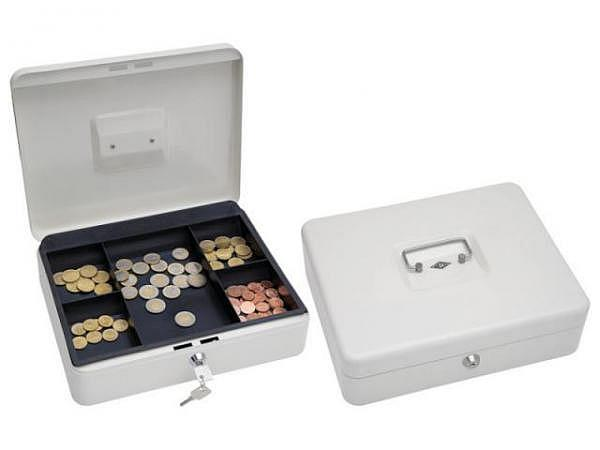 Geldkassette Büroline 23x18,5 mit Münzfach blau