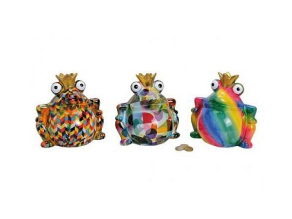 Geldkassette Froschkönig aus Keramik bemalt