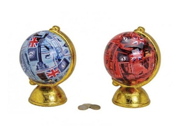 Geldkassette Globus aus Keramik ca. 18x12cm