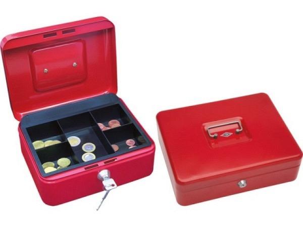 Geldkassette Büroline 16,5x12,5x8cm rot