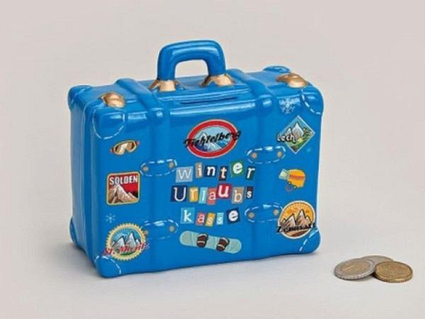 Geldkassette Koffer Winter-Urlaubs-Kasse