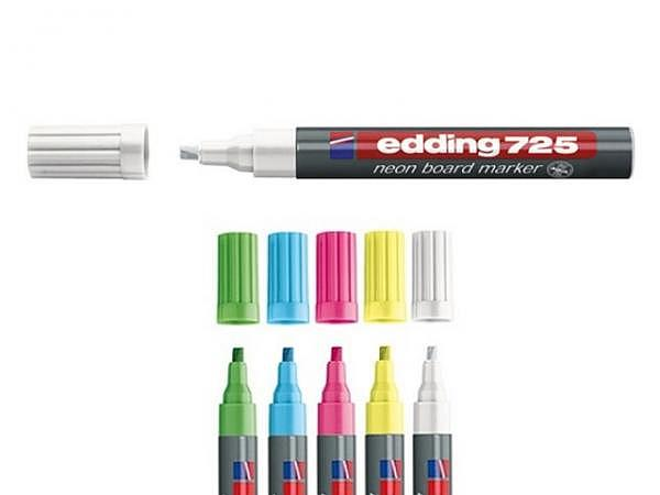 Filzstift Edding 725 für Whiteboard neonblau