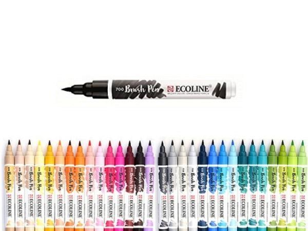 Filzstift Talens Ecoline Brush Pen 258 Aprikose, flüssige Wasserfarbe mit sehr hoher Leuchtkraft, we