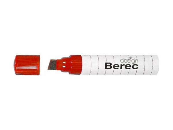 Filzstift Berec 954 rot, für Whiteboard und Flipchart geeignet, ecki..