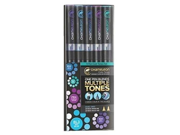 Pinselstift Chameleon Color Tones Pen Set 5Stk. Cool Tones