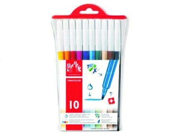 Filzstift Caran dAche Fancolor 10er Set leuchtend