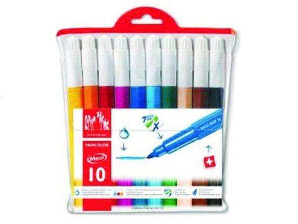 Filzstift Caran dAche Fancolor Maxi breit 10er Set leuchtend