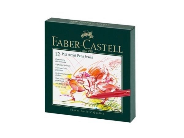 Filzstift Faber-Castell Pitt Artist Pen B 12er Studiobox