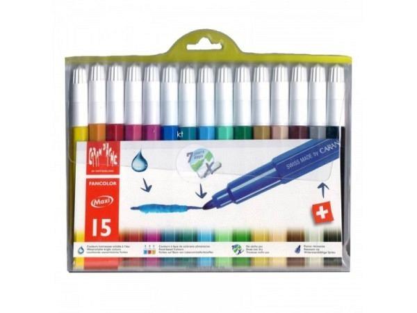Filzstift Caran dAche Fibralo Fancolor breit 15er Set
