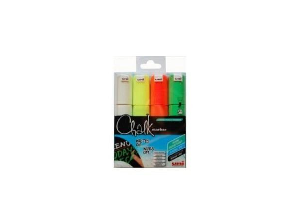 Filzstift Uniball Kreidemarker 4er Set farbig
