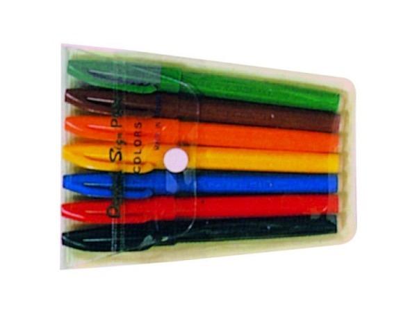 Filzstift Pentel Sign Pen 7-Set