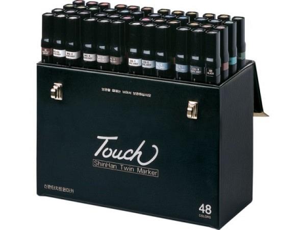 Filzstift Touch Doppelspitz Set 48er in Koffer, 1,5-6mm/1mm