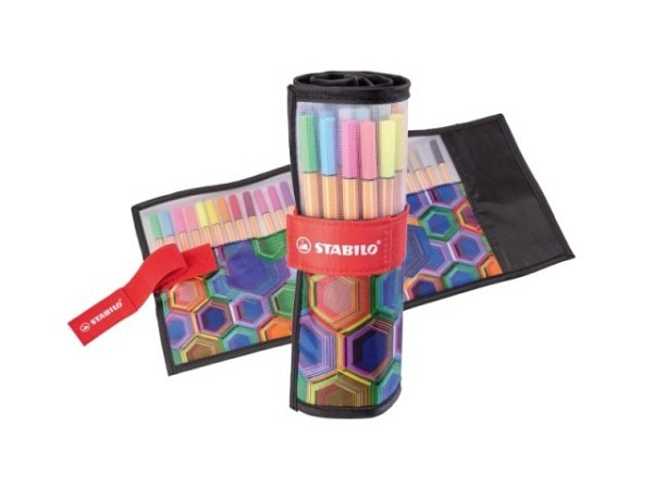 Filzstift Stabilo Pen 68 Leinen Rollerset 25er, 1mm