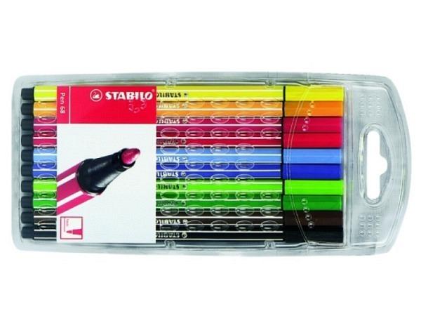 Filzstift Stabilo Pen 68 Set 10Stk. sortiert, 1mm
