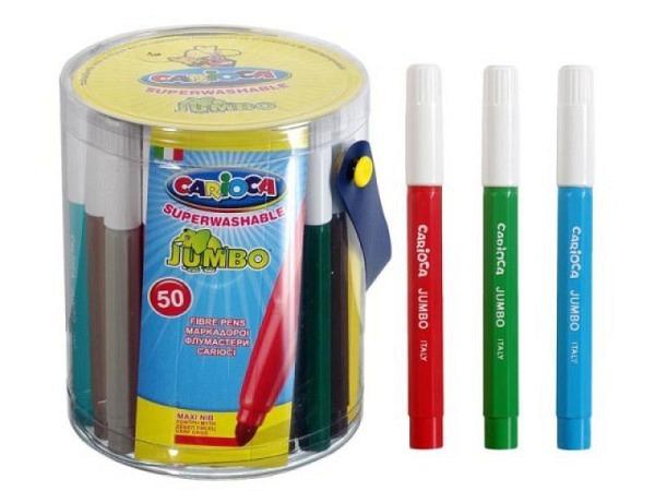 Filzstift Carioca Maxi Tip Jumbo Box mit 50 Stiften