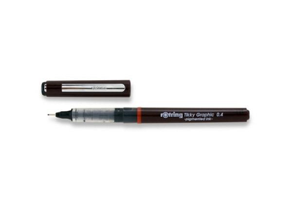 Filzstift Rotring Fineliner 0,4mm schwarz, Tikky Graphic