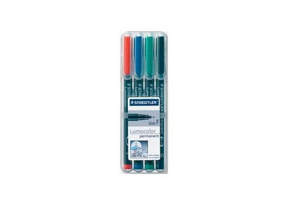 Filzstift Staedtler Lumocolor F permanent 4er-Set